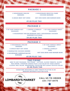 Red and White Checkeed Barbecue Menu
